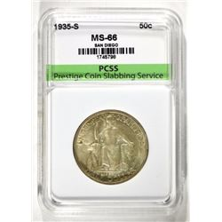 1935-S SAN DIEGO COMMEM. HALF, PCSS SUPERB GEM BU