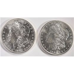 (2) 1904-O MORGAN SILVER DOLLARS