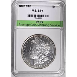 1878 8TF MORGAN DOLLAR, PCSS GEM BU+