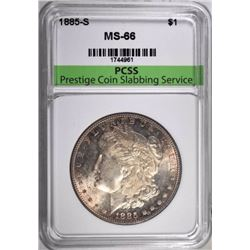 1885-S MORGAN DOLLAR, PCSS SUPERB GEM BU
