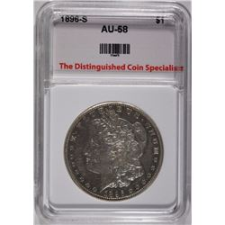 1896-S MORGAN DOLLAR TDCS AU/BU