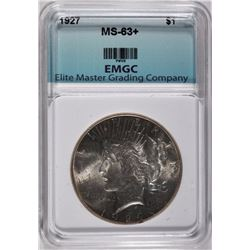 1927 PEACE DOLLAR EMGC CHOICE BU