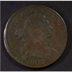 1802 LARGE CENT F/VF MARKS OBV.