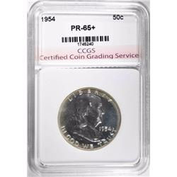 1954 FRANKLIN HALF DOLLAR, CCGS GEM BU+