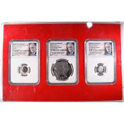 MARCH of DIMES SILVER SET NGC PF 69, 3 COIN SET