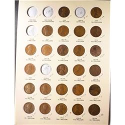 LINCOLN CENT SET HAS 1911-S, 1912-S, 1913-S,