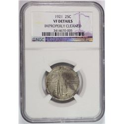 1921 STANDING LIBERTY QUARTER, NGC VF cleaned