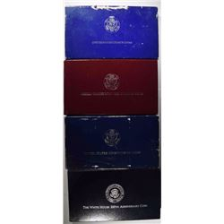 4 Commemoratives Coin Sets