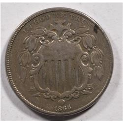 1866 SHIELD NICKEL VF
