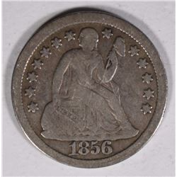 1856 LARGE DATE SEATED LIBERTY DIME FINE