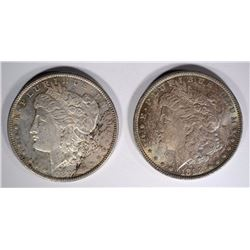 1890 PL & 1898 WITH COLORS MORGAN SILVER DOLLARS