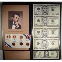 UNCUT SHEETS IN ALBUMS: 2003A $1.00 FRN