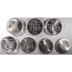 7-1976 MONTREAL OLYMPICS $5.00 SILVER COINS