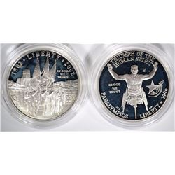 2-SILVER PROOF COMMEM DOLLARS; 1996 WHEELCHAIR