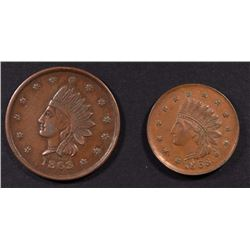 2-CIVIL WAR TOKENS CITY OF NEW YORK & NOT ONE CENT