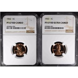 2 NGC GRADED PROOF LINCOLN CENTS