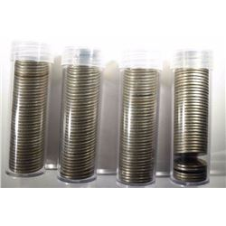 4-ROLLS MIXED DATE LIBERTY NICKELS