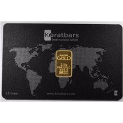 1-KARAT BAR 2.5 oz 999.9 GOLD BAR
