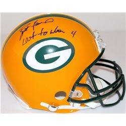 "Brett Favre Signed LE Packers Full-Size Authentic Pro-Line Helmet Inscribed ""Last to Wear 4"" #13/44"
