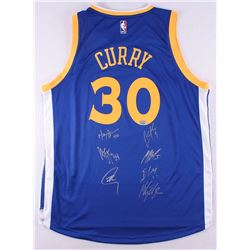 Multi-Signed Stephen Curry Warriors Adidas Jersey Signed by (7) With Stephen Curry, Klay Thompson, A