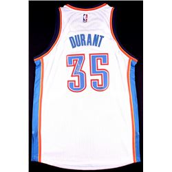 Kevin Durant Signed Thunder Adidas Authentic On-Court Jersey (Panini COA)