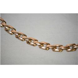 Ladies vintage 8kt rose gold link bracelet with slip lock and safety chain. Retail replacement value