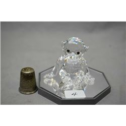 Swarovski crystal monkey with gemstone eyes
