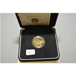 Royal Canadian mint 1997, $100 1/4 troy ounce fine gold coin made to commemorate the invention of th