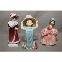 "Three Royal Doulton figurines including ""Make Believe"" HN2225, ""Bo Peep"" HN1811 and ""Sophie"" HN2833"