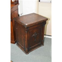 New Royal antique treadle sewing machine in fully enclosed quarter cut oak cabinet