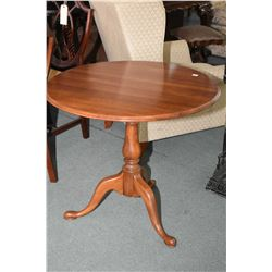 "Modern 32"" diameter center pedestal occasional table made by Ethan Allen"