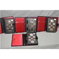 Four Royal Canadian Mint double dollar proof sets including a 1979 Great lake set, two 1981Trans Can