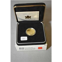 Royal Canadian mint 1998, $100 1/4 troy ounce fine gold coin made to commemorate the Canada's first