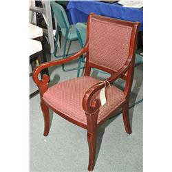 Empire style open arm parlour chair