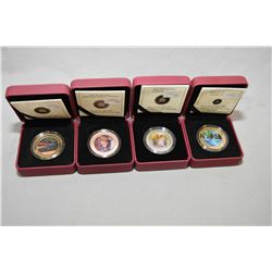 "Four Royal Canadian mint boxed lenticular 3D coloured collector's coins including ""Holiday Train', """