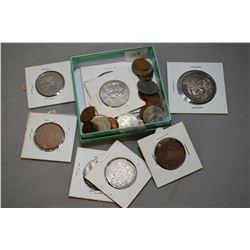 Selection of vintage and collectible coins including , British and Mexican coins plus Canadian 1913