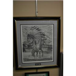 "Two framed prints ""Seven Horses of Freedom"" signed by artist Steve Riddell artist proof 8/50 and ""Ex"