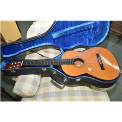 Aria model AA552 six string acoustic guitar in hard case