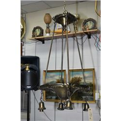 Two vintage electric ceiling fixtures sans shades