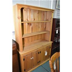 Modern representation of an antique pine Welsh dresser with understorage