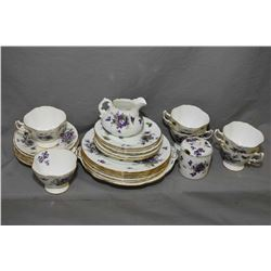 "Hammersley ""Victorian Violets"" including setting for six of tea cups and saucers, bread and butter p"