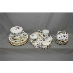 "Selection of Hammersley ""Victorian Violet"" dishes including five cups and saucers, five bread and bu"