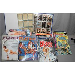 Selection of vintage comic books, National Lampoon magazine and Playboy magazines, all from the 1970