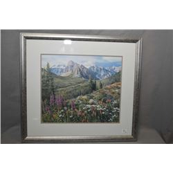 "Two framed limited edition prints including ""Valley of the Ten Peaks"" 293/600 and ""The Three Sister,"