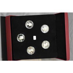 "Royal Canadian mint fine silver $15 ""Vingnettes of Royalty"" five coin set including Victoria, Edward"