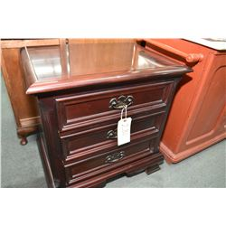 Solid mahogany Gibbard three drawer end table