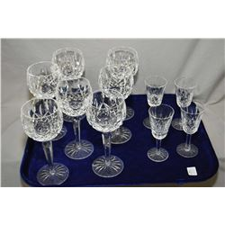 "Selection of Waterford crystal ""Lismore"" including seven red wine and four sherry glasses"