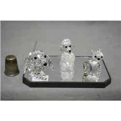 Selection of Swarovski crystal including poodle, daschund and a puddy tat