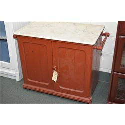 Antique marble top two door washstand