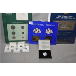 "Selection of collectible coins including Kingdom of Denmark ""Coins of all Nations"" The World's First"